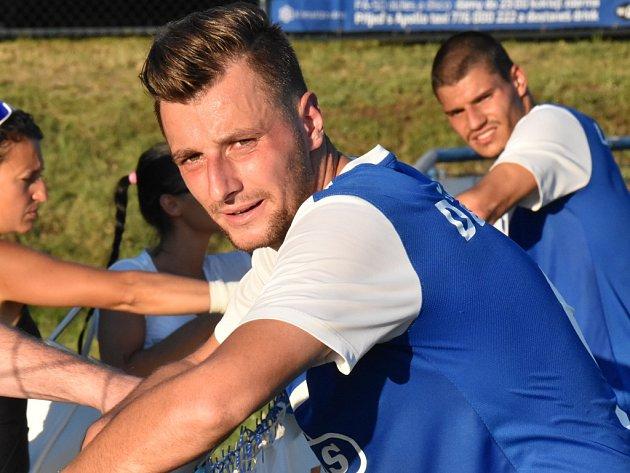 Adnan Džafič v zápase Táborska s Třincem (3:2) dal důležitý druhý gól.