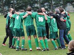 Fotbalisté Chrášťan porazili na svém hřišti Strýčice 1:0 a vedou v okrese třetí třídu.