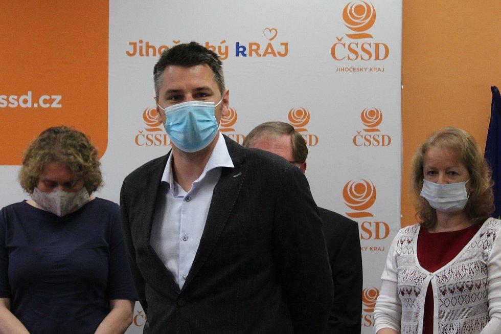 Jihočeská ČSSD zveřejnila kandidátní listinu. Na snímku volební manažer David Šťastný.