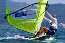 Karel Lavický z jachtařského klubu DIM Bezdrev byl jediným českým jachtařem na olympijských hrách v Tokiu.