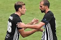 První svůj gól v české I. lize vstřelil v Liberci David Ledecký (vpravo).