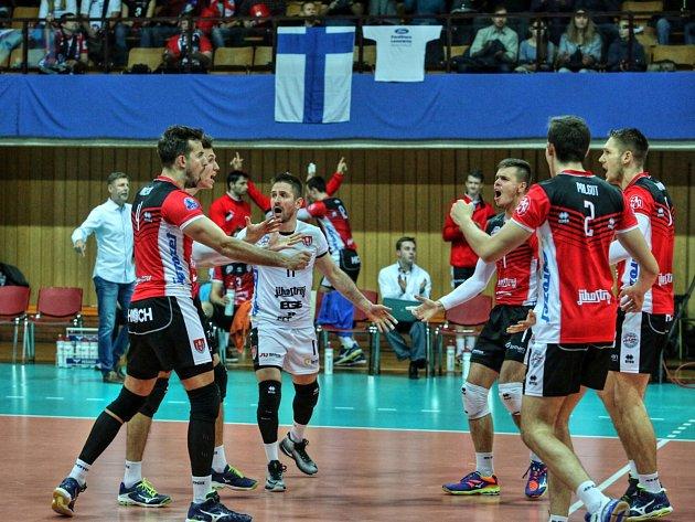 Jihostroj hostil finský tým v lize mistrů.