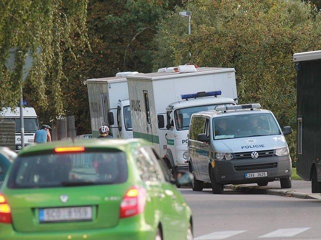 Policie v Českých Budějovicích.