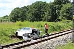 Tragická havárie se stala na železničním přejezdu u Nedabyle na Českobudějovicku. Vyžádala si lidský život.