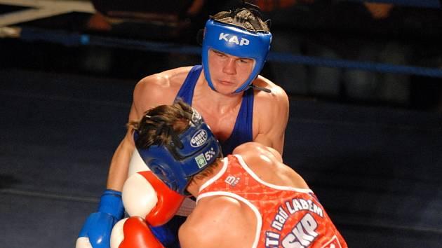 Michal Vodárek je členem české boxerské reprezentace a v extralize se na něj trenér Samsonu Zdeněk Faber může vždycky spolehnout.