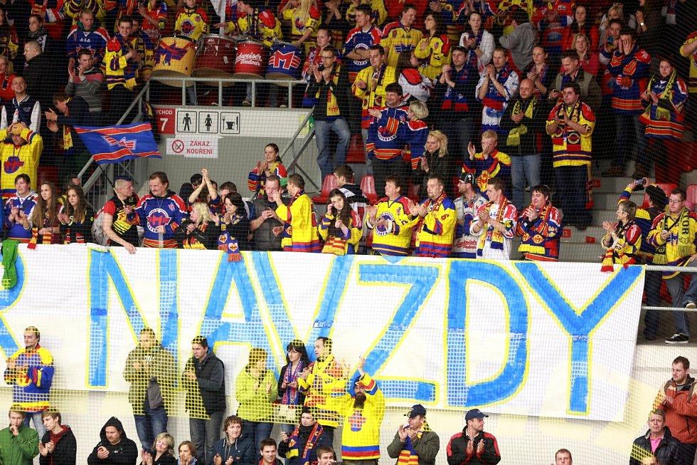 Poslední utkání playout 1. ligy hokeje mezi HC Motor České Budějovice a HC Medvědi Beroun 1933.