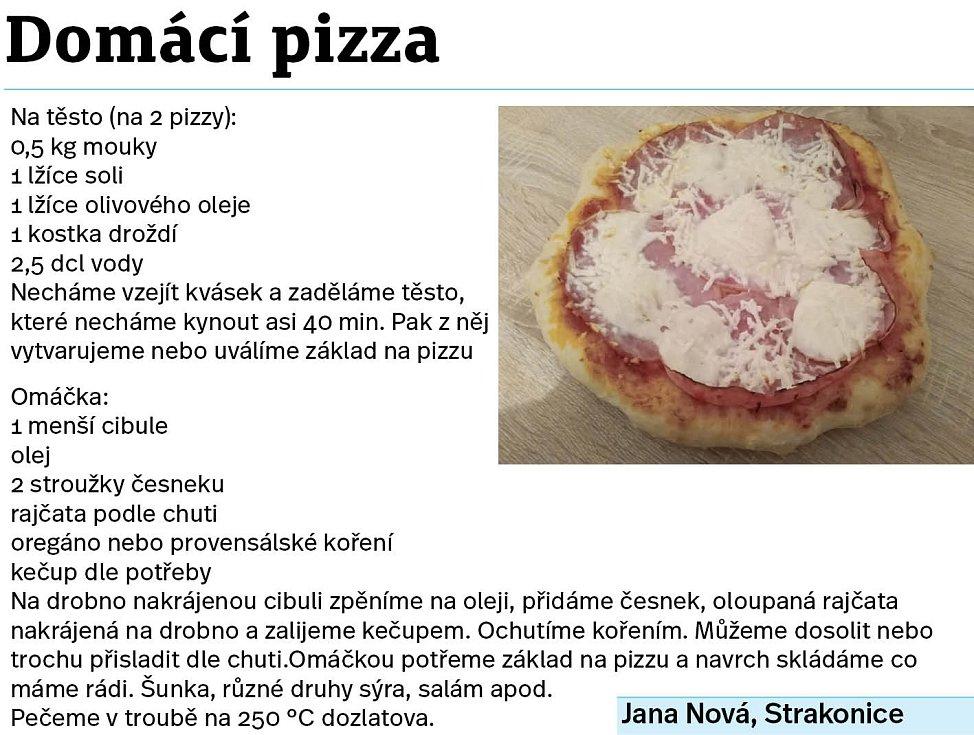 Domácí pizza.