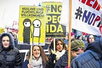 Proti xenofobii v Linci.