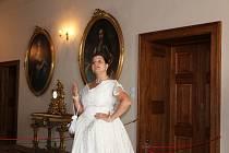 Na hradě provázela děti hraběnka Terezie.