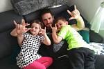 Martin Kryštof s rodinou