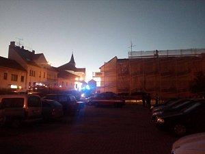 Požár střechy v Lišově