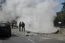 Okamžiky těsně po výbuchu.