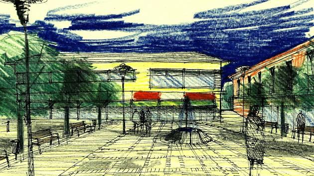Ideový návrh možné příští podoby rudolfovského náměstí.