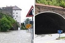 Tunely k městu od Budějovic.
