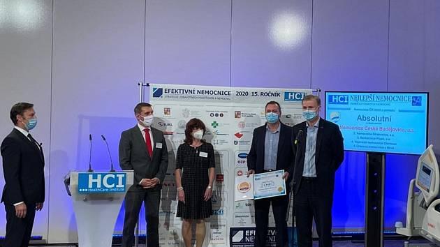 V celostátním průzkumu společnosti HealthCare Institute Nemocnice ČR zvítězila Nemocnice České Budějovice.