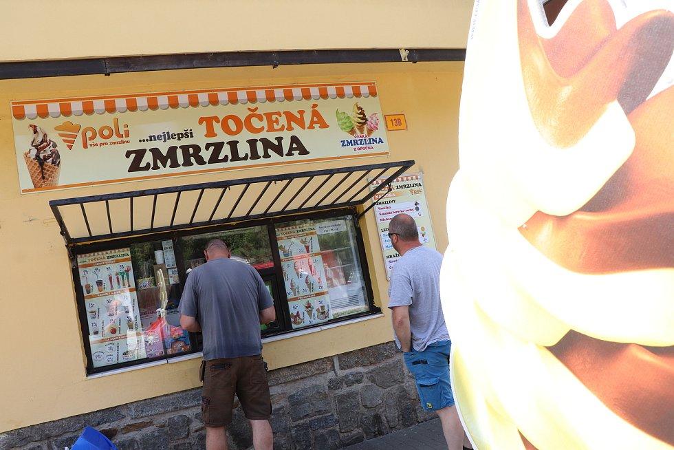 Výrobna zmrzliny Poli v Českých Budějovicích v budějovické ulici U Trojice.
