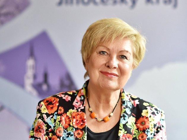 Hejtmanka Jihočeského kraje Ivana Stráská.