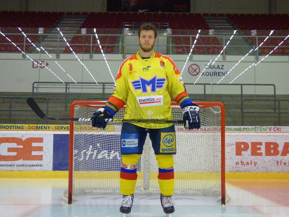 Havířovu nadělili hokejisté ČEZ Motoru České Budějovice celkem pět branek. Jednu z nich tak Václav Karabáček (na snímku).
