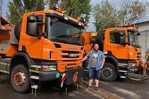 U Správy a údržby silnic Jihočeského kraje pracuje Petr Benda (na snímku) necelý rok.
