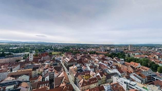 Panoramatický snímek Českých Budějovic.