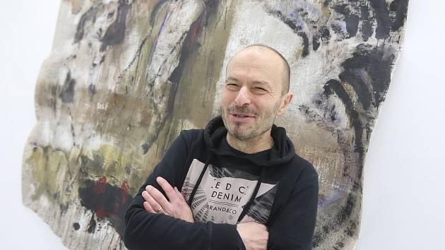 Roman Brichcín vystavuje do neděle 9. 2. v českobudějovickém Domě umění.