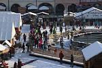 Vánoční trh na českobudějovickém náměstí