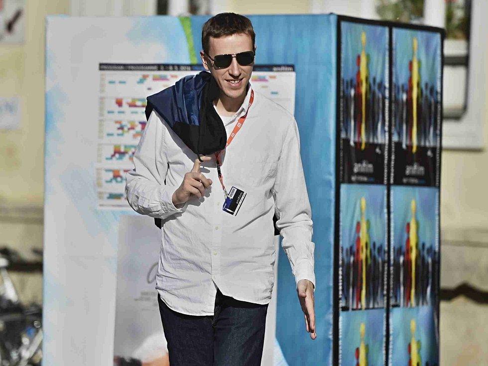 Festival Anifilm, který v Třeboni promítl 405 animovaných snímků z celého světa, ocenil nový film Charlieho Kaufmana s názvem Anomalisa. Na snímku ředitel festivalu Tomáš Rychecký.