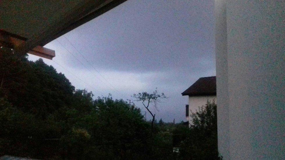Bouřka v Jindřichově Hradci.