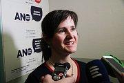 V pondělí dopoledne padla krajská koalice ČSSD, ANO a Jihočechů 2012. Na snímku krajská předsedkyně hnutí ANO Radka Maxová.