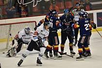 Puk je v brance vítkovického Aleše Stezky, českobudějovičtí hokejisté se radují. csté