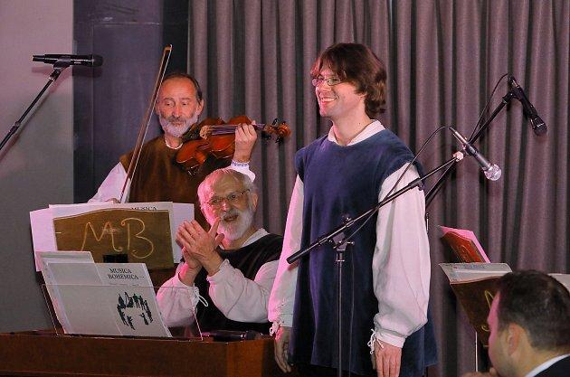 Zimní obdoba koncertů Třeboňská nocturna, tzv. Abonentní koncerty, potrvá do března. Na snímku Musica Bohemica.