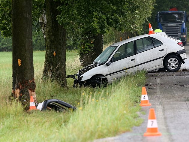 Smrtelná dopravní nehoda u Srubce.