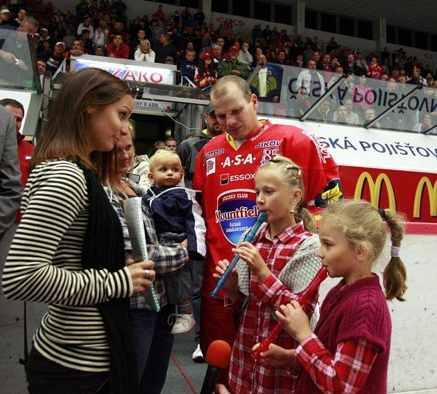 Utkání Tipsport hokejové extraligy mezi HC České Budějovice a Bílí Tygři Liberec.