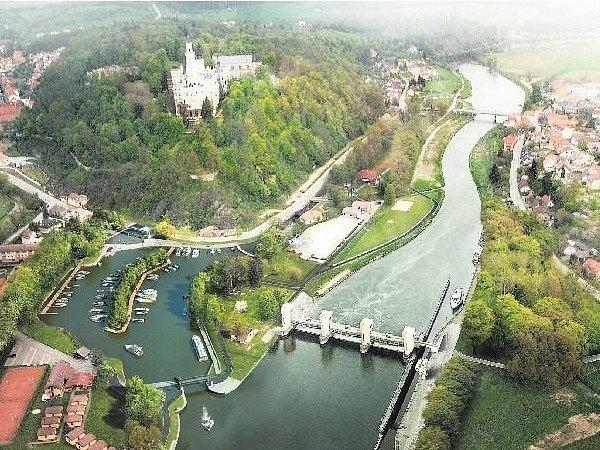 Budoucí podoba přístavu v Hluboké.