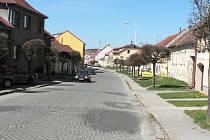 Výpadovka z Trhových Svinů na Nové Hrady před rekonstrukcí.