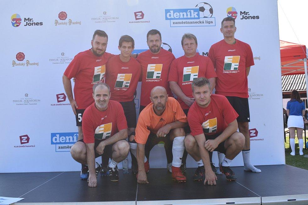Prvního ročníku Zaměstnanecké ligy Deníku se v úterý účastnil tým firmy ENERGOFOREST.