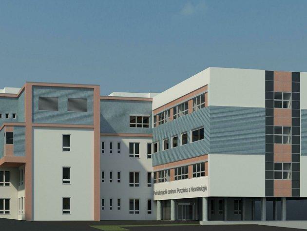 Návrh, jak by mělo vypadat nové perinatologické centrum českobudějovické nemocnice.