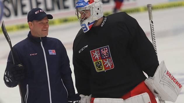 Čtvrteční trénink české reprezentace před večerním zápasem s Finskem.