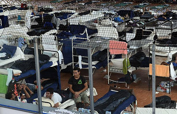 Zimní stadion vDeggendorfu slouží azylantům.