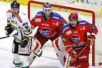 Hokejisté HC Mountfield v úterý hrají letos naposledy s Mladou Boleslaví a bodovým ziskem by si definitivně zachovali extraligovou příslušnost i pro příští sezonu.