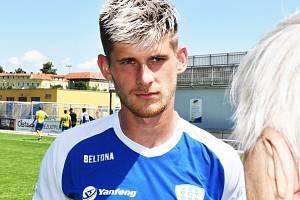 Jakub Matoušek po zápase Táborska s Teplicemi odpovídá v Písku na dotazy Deníku jižní Čechy.