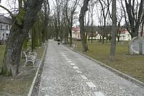 Husovy sady v Jindřichově Hradci, kde byla Soňa Illeová naposledy spatřena.