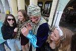 Had na českobudějovickém náměstí.
