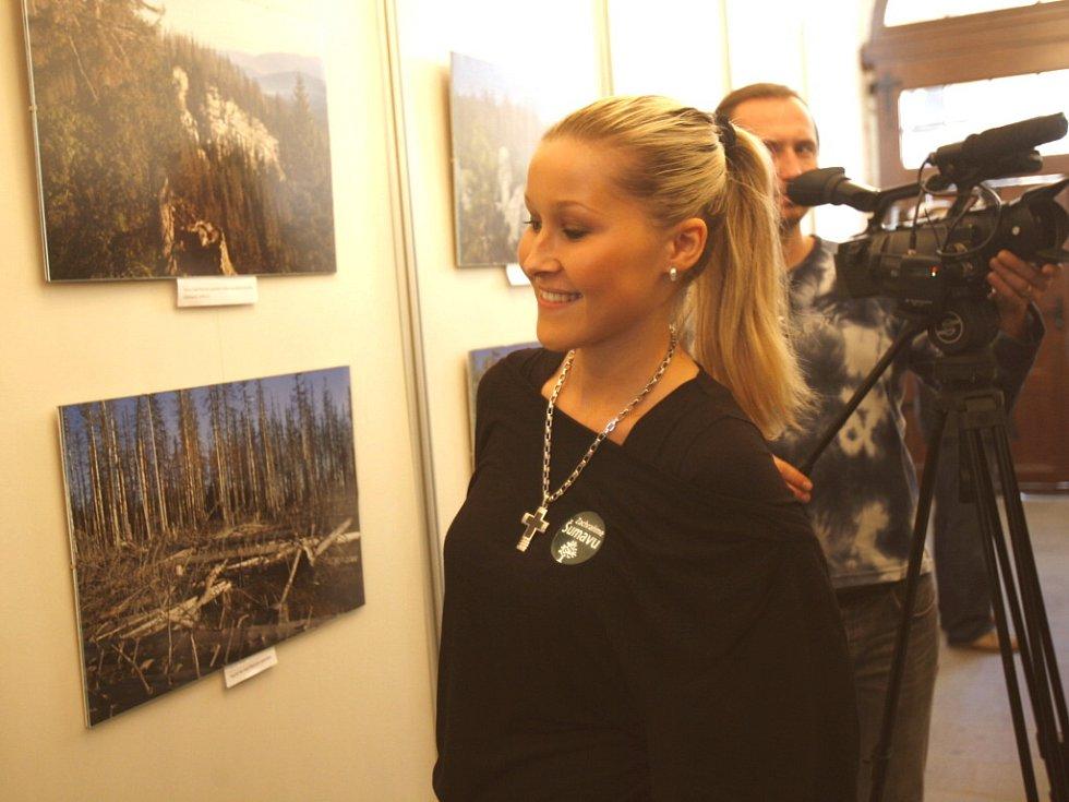 V pondělí byla na českobudějovické radnici zahájena výstava Zachraňme Šumavu.