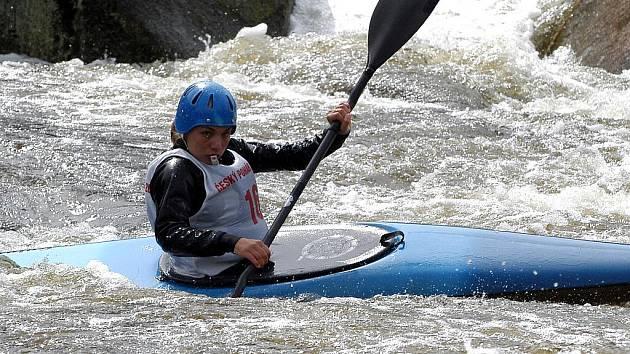 Snímek Veroniky Vojtové z roku 2006 dokumentuje, že přírodní vodní terén pod lipenskou přehradou je opravdu velmi obtížný.