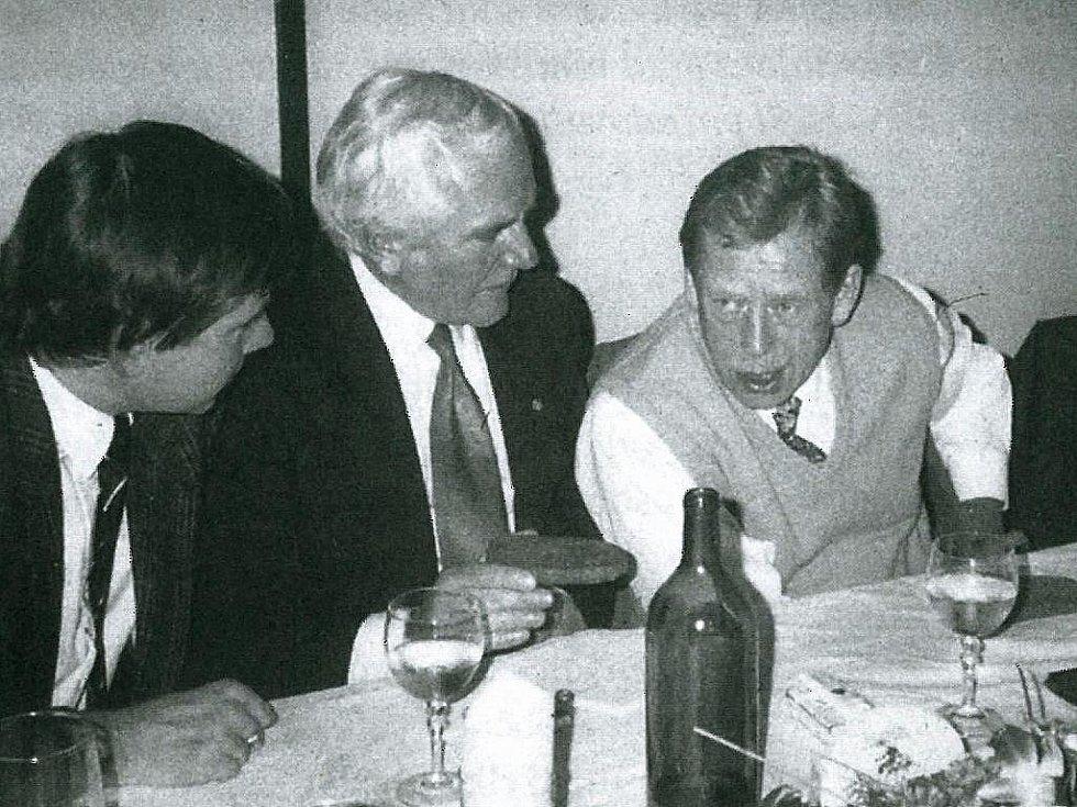 Václav Havel během své návštěvy Písku