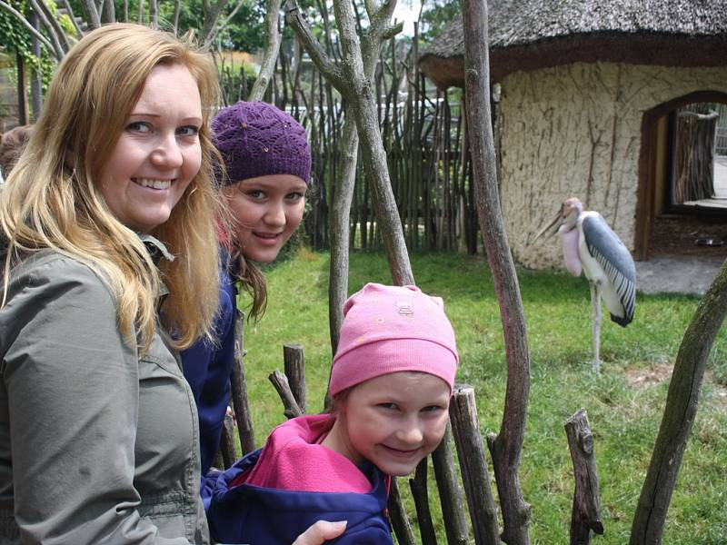 Sobota v Zoo Hluboká patřila především dětem