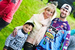 Zdeněk Blábolil s přítelkyní Andreou a synem Davidem.