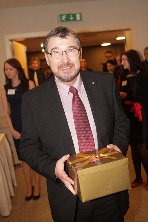 Slavnostní večer k ukončení třetího ročníku projektu Chováme se odpovědně.Na snímku generální ředitel SOME Jindřichův Hradec Bohdan Soukup.