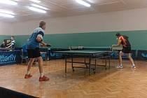 Stolní tenisté Pedagogu České Budějovice v ligovém souboji